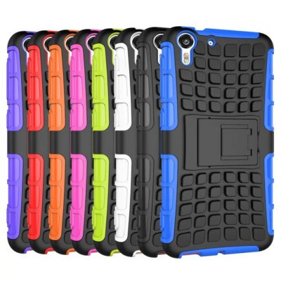 Фотография Stand Design TPU and PC Material Tire Pattern Protective Back Cover Case for HTC Desire Eye 818