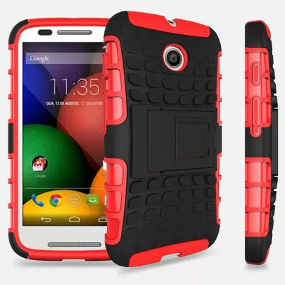 TPU and PC Material Back Cover Case for Motorola Moto E