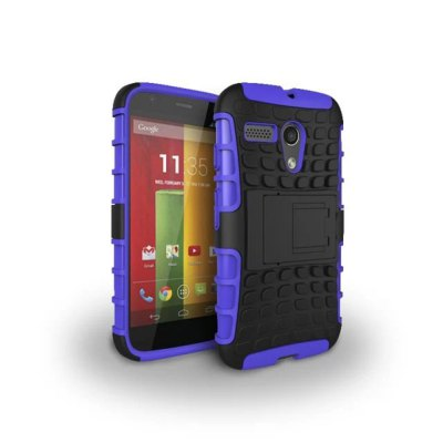 ФОТО Stand Design TPU and PC Material Tire Pattern Protective Back Cover Case for Motorola moto G