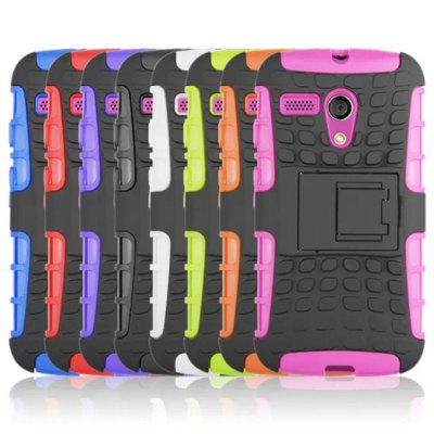 Фотография Stand Design TPU and PC Material Tire Pattern Protective Back Cover Case for Motorola moto G
