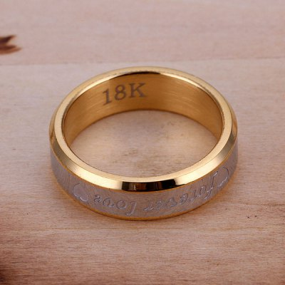 Фотография Letter Carved Chic Ring for men US size 9
