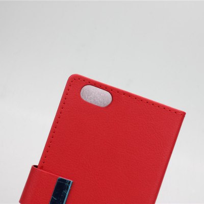 Фотография Stand Design Built - in Card Holder Protective Cover Case of PU and PC Material for Huawei Honor 4X