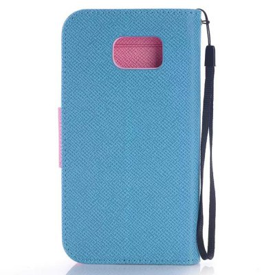 Фотография PU and TPU Material Contrast Color Phone Protective Cover Case for Samsung Galaxy S6 G9200