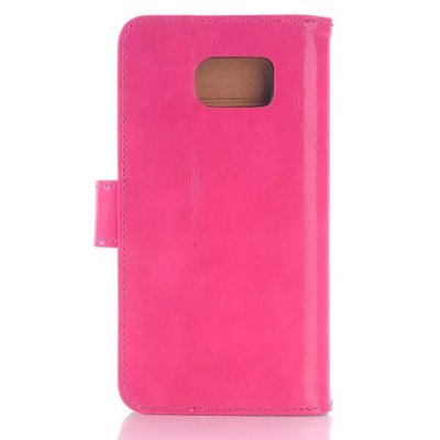 ФОТО Stand Design Triple Folding Card Holder Phone Cover Case of PU and PC Material for Samsung Galaxy S6 G9200