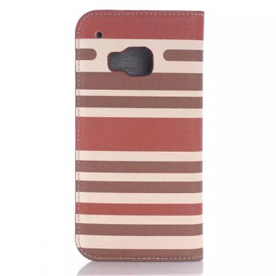 ФОТО PU and PC Material Contrast Color Phone Protective Cover Case for HTC One M9