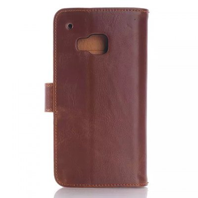 ФОТО Stand Design Triple Folding Card Holder Phone Cover Case of PU and PC Material for HTC One M9
