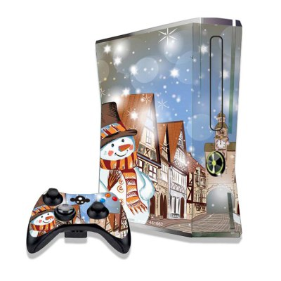 Snowman Figure Pattern Game Consoles Handle Stickers for Xbox 360S