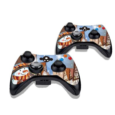 Фотография Snowman Figure Pattern Game Consoles Handle Stickers for Xbox 360S