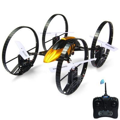 ФОТО JJRC H3  -  1 Air  -  Ground Airphibian 2.4G 4 Channel RC Quadcopter with Four  -  Wheel Built  -  In 6 Axis Gyro UFO