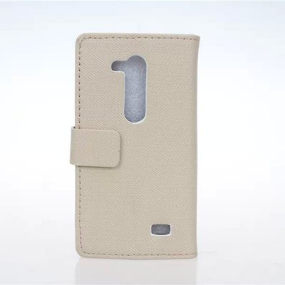 ФОТО Stand Design Cloth Texture Style Protective Cover Case of PU and PC Material for LG L Fino D295