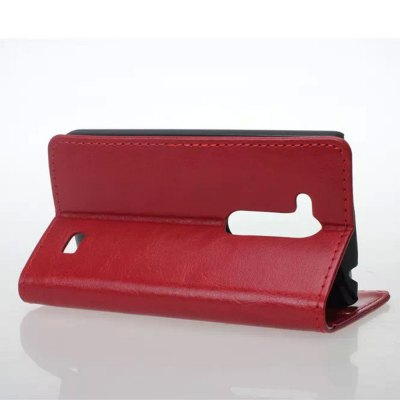 Фотография Practical PU and PC Material Crazy Horse Pattern Card Holder Cover Case for LG L Fino D295