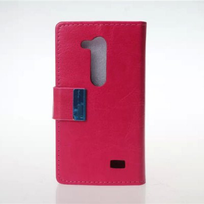 Practical PU and PC Material Crazy Horse Pattern Card Holder Cover Case for LG L Fino D295