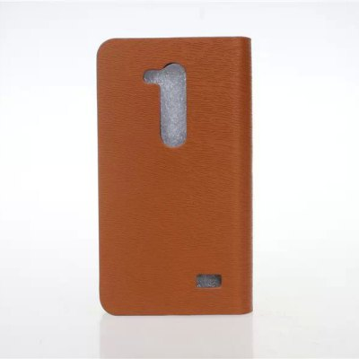 Practical PU and PC Material Wood Grain Pattern Card Holder Cover Case for LG L Fino D295