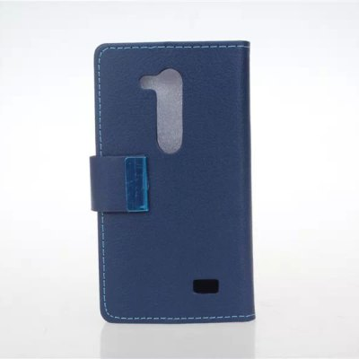 ФОТО Stand Design Built - in Card Holder Protective Cover Case of PU and PC Material for LG L Fino D295