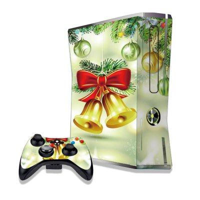 Christmas Bell Figure Pattern Game Consoles Handle Stickers for Xbox 360S