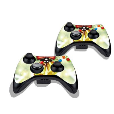 Фотография Christmas Bell Figure Pattern Game Consoles Handle Stickers for Xbox 360S