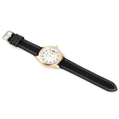 Фотография Xfeng Male Quartz Watch with Round Dial Leather Band Decorative Date
