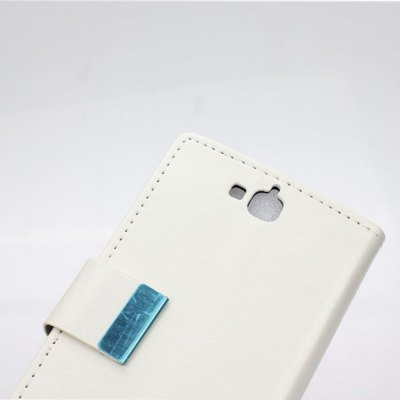 Фотография Crazy Horse Pattern PU and PC Material Card Holder Cover Case with Stand for Huawei Honor Holly