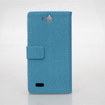 Gravel Pattern PU and PC Material Card Holder Cover Case with Stand for Huawei Honor Holly