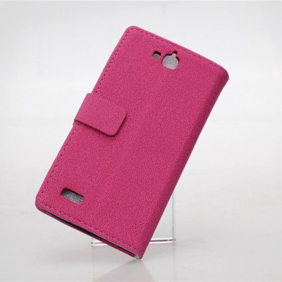 Фотография Gravel Pattern PU and PC Material Card Holder Cover Case with Stand for Huawei Honor Holly