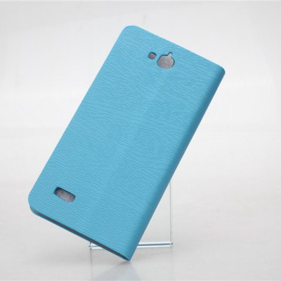 Фотография Wood Grain Pattern PU and PC Material Card Holder Cover Case with Stand for Huawei Honor Holly