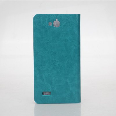 Crystal Grain Pattern PU and PC Material Card Holder Cover Case with Stand for Huawei Honor Holly