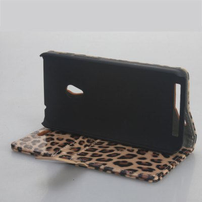 Фотография Leopard Print Pattern PU and PC Material Card Holder Cover Case with Stand for ASUS A450G