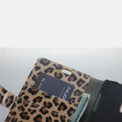 Фотография Leopard Print Pattern PU and PC Material Card Holder Cover Case with Stand for Samsung Galaxy Note 4 N9100