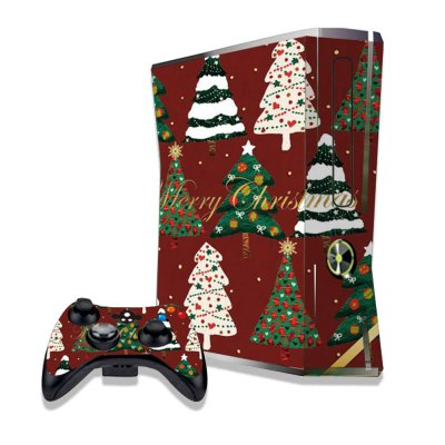 Colorful Christmas Trees Figure Pattern Game Consoles Handle Stickers for Xbox 360S