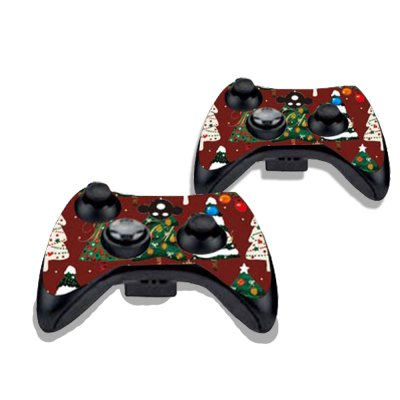 Фотография Colorful Christmas Trees Figure Pattern Game Consoles Handle Stickers for Xbox 360S