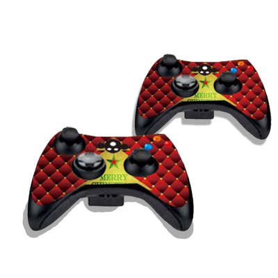 Фотография Golden Christmas Tree Figure Pattern Game Consoles Handle Stickers for Xbox 360S