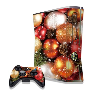 Glittery Christmas Balls Figure Pattern Game Consoles Handle Stickers for Xbox 360S
