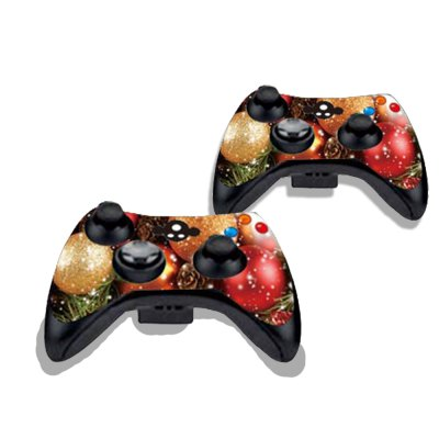 Фотография Glittery Christmas Balls Figure Pattern Game Consoles Handle Stickers for Xbox 360S
