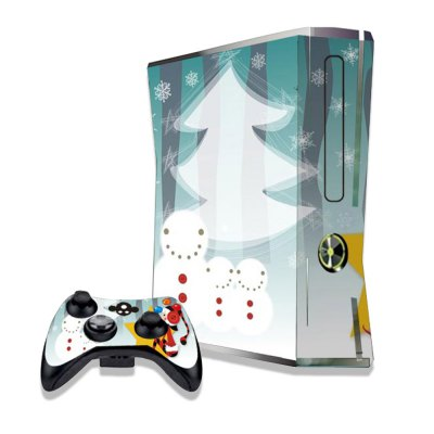 Snowman Family Figure Pattern Game Consoles Handle Stickers for Xbox 360S