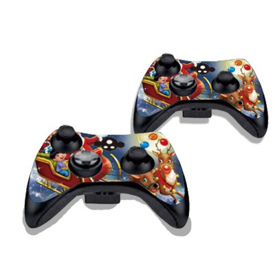 Фотография Santa Claus and Children Figure Pattern Game Consoles Handle Stickers for Xbox 360S
