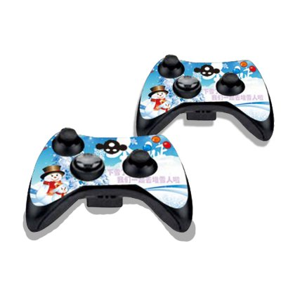 Фотография White Christmas Figure Pattern Game Consoles Handle Stickers for Xbox 360S