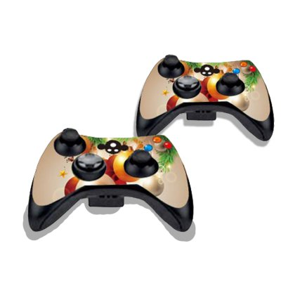 Фотография Hanging Christmas Balls Figure Pattern Game Consoles Handle Stickers for Xbox 360S