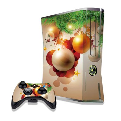 Hanging Christmas Balls Figure Pattern Game Consoles Handle Stickers for Xbox 360S