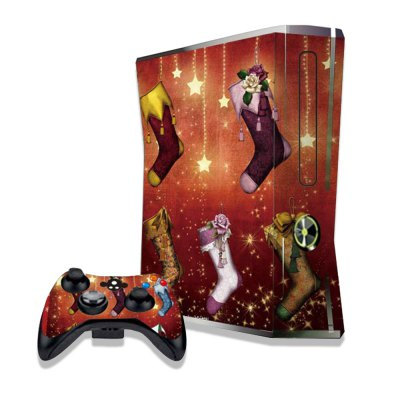 Colorful Stockings Figure Pattern Game Consoles Handle Stickers for Xbox 360S