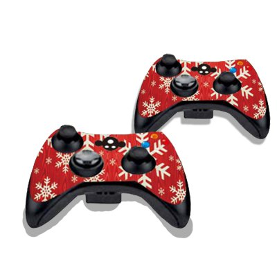 Фотография Snowflake Figure Pattern Game Consoles Handle Stickers for Xbox 360S