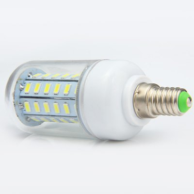 E14 8W 2400Lm 60 x SMD 5730 Daylight Clear Shaded LED Corn Bulb 220V