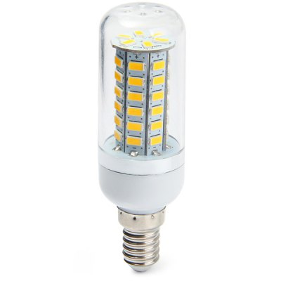 530Lm E14 4W SMD 5730 48 LEDs Soft White Light Clear LED Corn Bulb