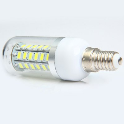 530Lm E14 4W SMD 5730 48 LEDs Cool White Light Clear LED Corn Bulb