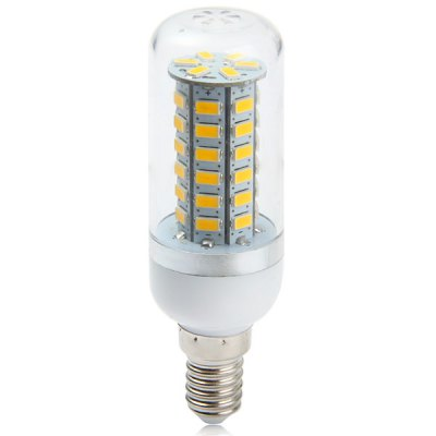 530Lm E14 4W SMD  -  5730 48 LEDs Dimmable Soft White Light LED Corn BulbLED Light Bulbs<br>530Lm E14 4W SMD  -  5730 48 LEDs Dimmable Soft White Light LED Corn Bulb<br><br>Base Type: E14<br>Type: Corn Bulbs<br>Output Power: 4W<br>Emitter Type: SMD-5730 LED<br>Total Emitters: 48<br>Theoretical Lumen(s): 550Lm<br>Actual Lumen(s): 530Lm<br>Wavelength/Color Temperature: 2800-3200K, 6000-6500K<br>Voltage (V): AC85-265<br>Angle: 360 degree<br>Appearance: Silver edge<br>Features: Energy Saving, Low Power Consumption, Long Life Expectancy, Dimmable<br>Function: Studio and Exhibition Lighting, Home Lighting, Commercial Lighting<br>Available Light Color: Warm White, Cold White<br>Sheathing Material: Plastic<br>Product Weight: 0.033 kg<br>Package Weight: 0.06 kg<br>Product Size (L x W x H): 9.9 x 3 x 3 cm / 3.89 x 1.18 x 1.18 inches<br>Package Size (L x W x H): 10 x 4 x 4 cm / 3.93 x 1.57 x 1.57 inches<br>Package Contents: 1 x LED Dimmable Light Bulb