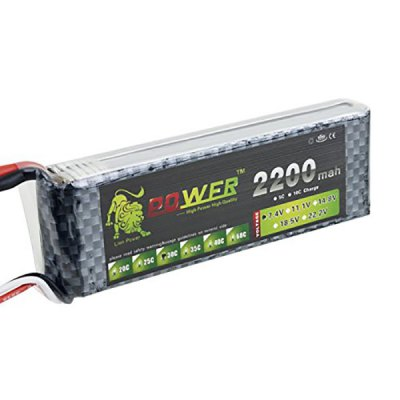 Фотография Lion Power 7.4V 2200mAh 30C Lipo High Capacity Battery