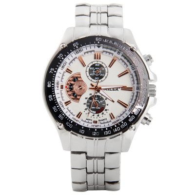 Фотография Miler A8272 Quartz Watch Non - functioning Sub - dials Stainless Steel Strap for Men