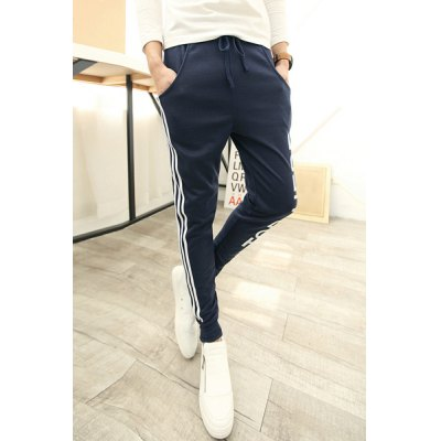 Гаджет   Leisure Braid Embellished Lace-Up Letters Print Slimming Narrow Feet Men