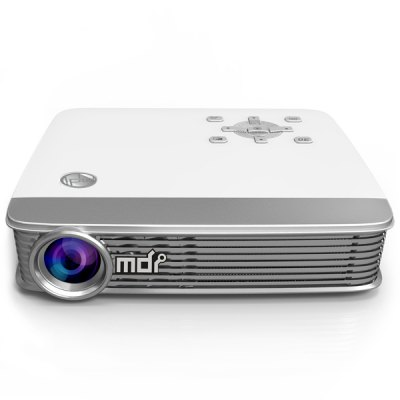 Гаджет   MDI M8 High Compatibility 3000LM 1280 x 800 Pixels Android4.4.2 DLP 3D WiFi Bluetooth Projector 2GB RAM 8GB ROM for TV Box Computer Phone Camera Console VCD DVD Player Projector