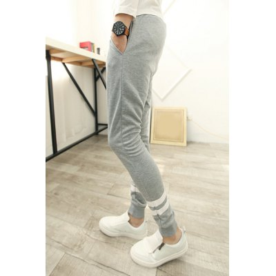 Гаджет   Concise Letters Personality Print Slimming Lace-Up Solid Color Narrow Feet Men