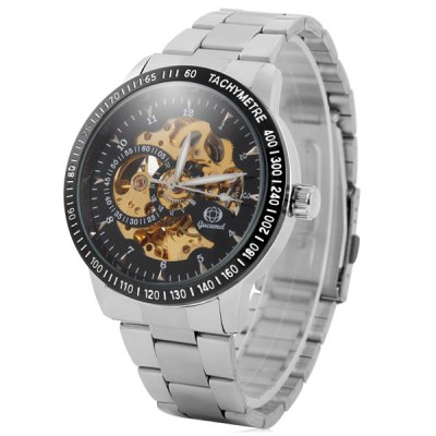 ФОТО Gucamel 023 Analog Automatic Mechanical Watch Hollow - out Design for Men